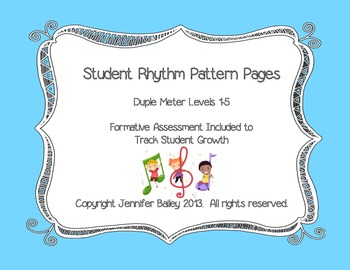 Student Rhythm Pattern Pages: Duple Meter