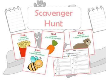 Scavenger Hunt (Get to Know Ice Breaker)
