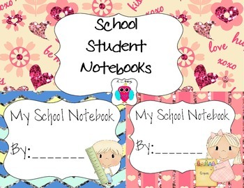 Student School Notebooks