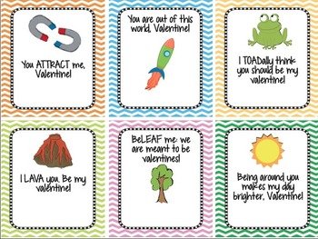 Student Science Valentine's Day Cards: Print, Sign, Give