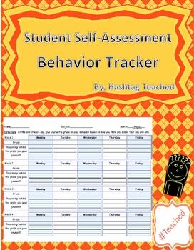 Student Self Assessment Behavior Tracker (Year-Long Template)