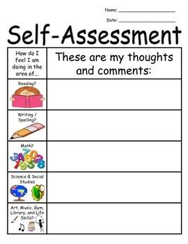 Student Self-Assessment Form