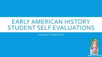 Student Self Assessment for 8th Grade Social Studies