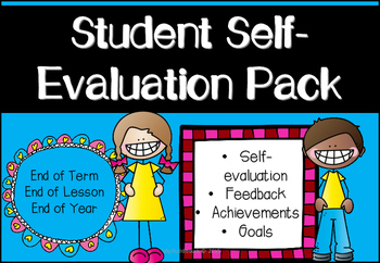 Student Self-Evaluation and Monitoring Progress Pack