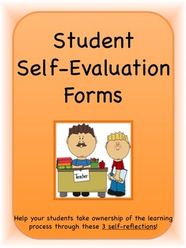Student Self-Evaluations/Self-Reflections--3 different for