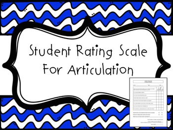Student Self-Rating Scale for Articulation