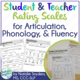 Student Self Rating Scales for Articulation, Phonology, &