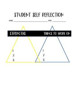 Student Self Reflection Sheet