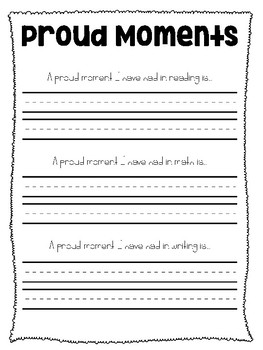 Student Self Reflection Sheets
