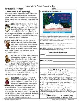 Student Sheets/Close Reading Unit 3 Wk 3 Main Selection Ho