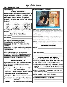 Student Sheets/Close Reading Unit 4 Wk 4 Main Selection Se