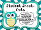 Student Shout Out Owl-Themed Signs and Slips
