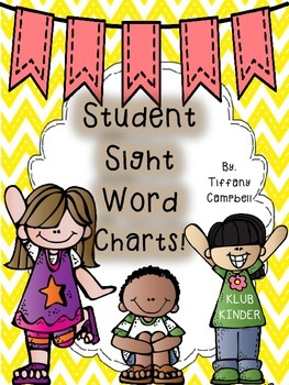 Student Sight Word Charts!