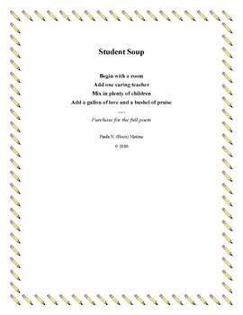 Student Soup - Poem