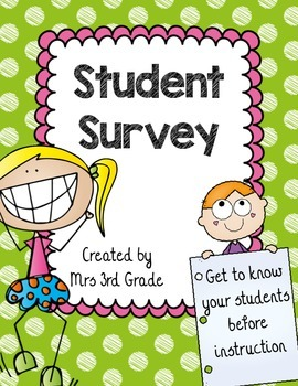 Student Survey ~ FREEBIE