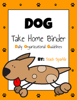 Student Take Home Binders (Dog Version)