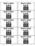 Student Take Home Folder Labels - Movie Theme