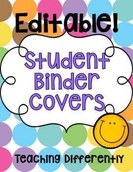 Student Binder & Take Home Folder Covers (Groovy Theme!)