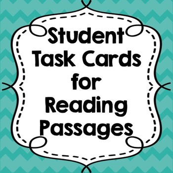 Student Task Cards for Reading Passages