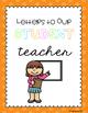 Student Teacher Letters