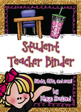 Student Teacher or Intern Binder Pack! {EDITABLE} {Welcome