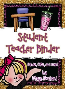 Student Teacher or Intern Binder Pack! {EDITABLE} {Welcome