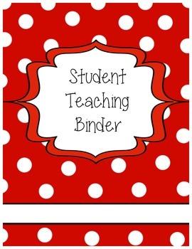 Student Teaching Binder Cover (Editable)