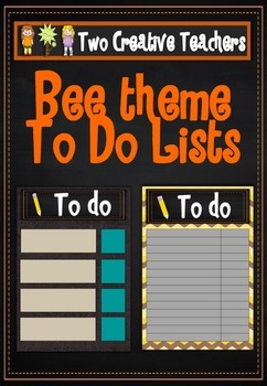 Student To Do Lists Bee Theme