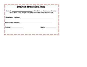 Student Transition Hall Pass