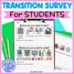 Student Transition Worksheet and Parent Survey for LIFE Skills