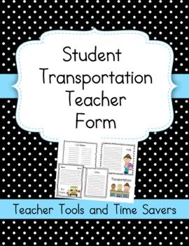 Transportation Organizer Form