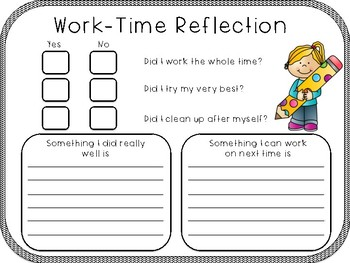 Student Work Time Reflection