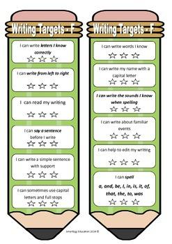 Student Writing Targets: Australian Curriculum F-6