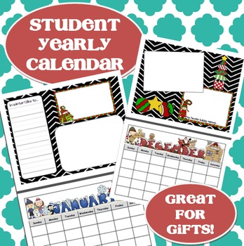 Student Yearly Gift Calendar