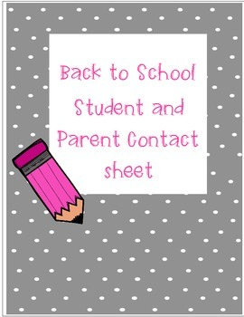 Student and Parent Contact Log