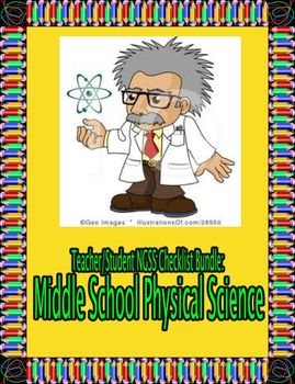 Student and Teacher NGSS Checklist Bundle: Middle School P