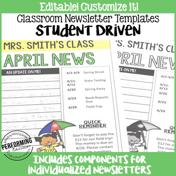 Student-driven Classroom Newsletters: Great for upper grad