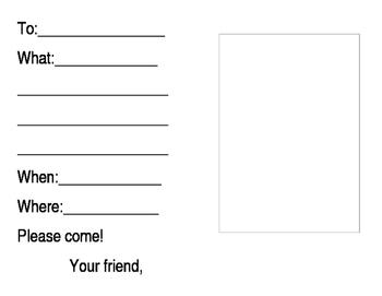 Student invitation printable