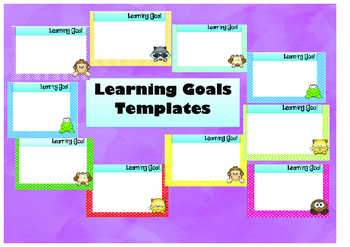 Student learning goal templates