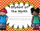 Student of the Month Award Freebie