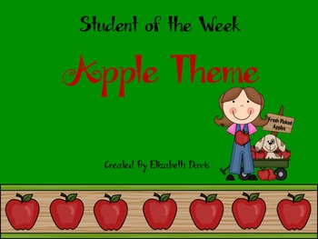 Student of the Week- Apple Theme