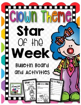 Student of the Week- Clown Theme