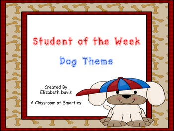 Student of the Week- Dog Theme