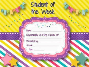 Student (and Teacher) of the Week & Month Award Certificates