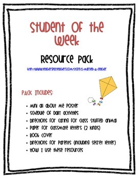 Student of the Week Resource Pack