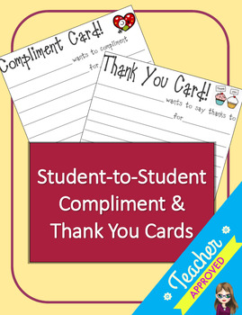 Student-to-Student Compliment and Thank You Cards