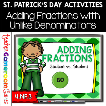 Student vs Student - Adding Fractions St. Patrick's Day Po