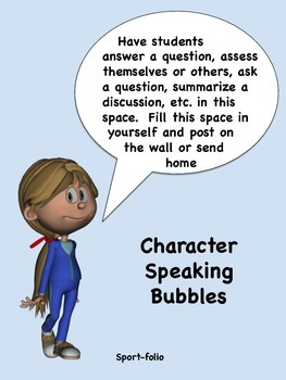 Character Speaking Bubbles - Editable