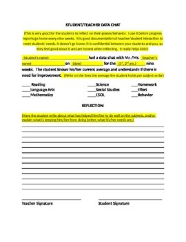 Student/Teacher Data Chats
