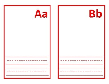 Students Generated Alphabet  - English and Spanish Templates